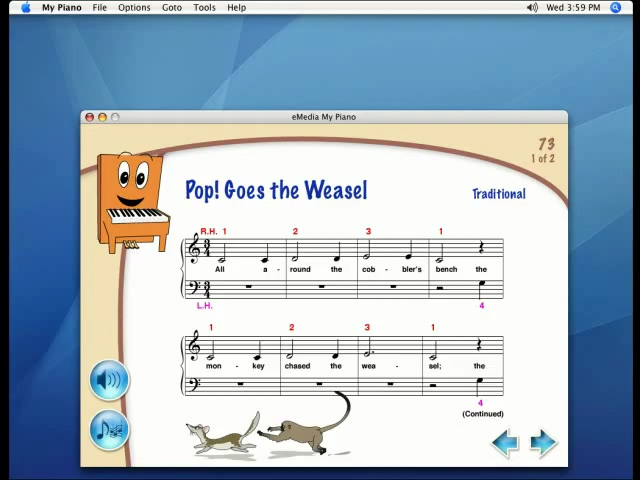 Award winning beginning piano lessons for kids makes learning my piano pop goes the weasel malvernweather Choice Image